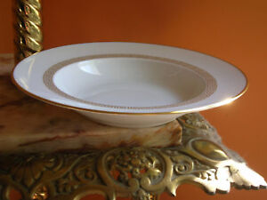 Furstenberg Helena Soup Bowl Gold Greek Key 5.5 x 1.25