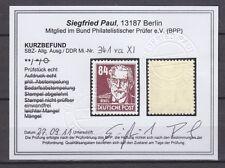DDR 341 va  XI ** geprüft Befund (9) 84 Pfennig Köpfe