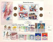 1989 MNH year set/jaargang, Noorwegen, Norway, Norge, Norwegen, Postfris