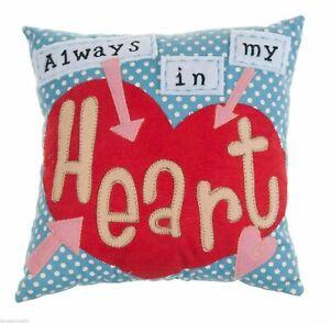 Ganz Valentine's Day Always In My Heart Design 10'' Square Throw Pillow ER21207