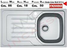 Lavello Franke Onda Line OLX 611-L 86X50 1 Vs.Destra Gocc.Sinistro Acciaio Inox