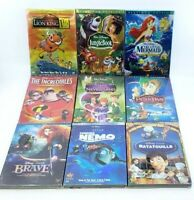 Lot of 9 Disney DVD's Finding Nemo, Ratatouille, Brave, PeterPan [RE-SEALED] ™