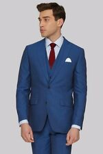 Moss 1851 Tailored Fit Peacock Blue Suit Jacket 46S TD079 BB 07