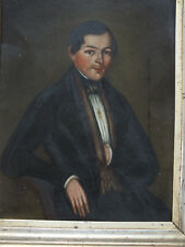 Biedermeier Portrait - auf Blech gemalt - Berliner Leiste Rahmen - guter Zustand