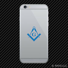 (2x) Freemasonry Emblem Cell Phone Sticker Mobile Freemason Masonic many colors