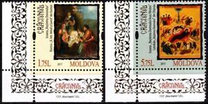MOLDOVA 2017 Christmas. Religion Art Icons. CORNER, MNH