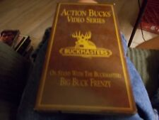 ACTION BUCKS BUCKMASTERS VHS VIDEO ON STAND WITH THE BUCKMASTER BIG BUCK FRENZY