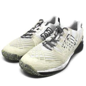 🔴 Wilson Mens Kaos 2.0 SFT Court Tennis Shoe White Cream Black Size 14