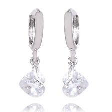 Wholesale 925 Silver Earing Dangle Drop CZ Cubic Zirconia Crystal Hook Ear
