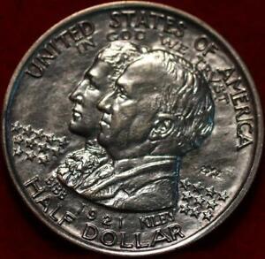 1921 Philadelphia Mint Alabama 2 x 2 Silver Comm Half