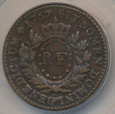 USA FRENCH COLONIES SOU 1767 A w/counterstamp PCGS VF35