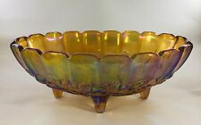 Indiana Glass Amber Centerpiece Oval Footed Fruit Bowl 12 inch