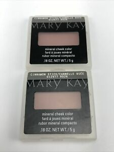 Mary Kay Mineral Cheek Color Cinnamon Stick - #012977 Full Size .18oz Lot Of 2
