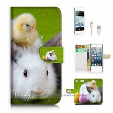 ( For iPod 6 / itouch 6 ) Flip Case Cover P2359 Bunny Rabbit