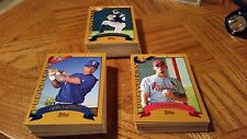 2002 TOPPS BASEBALL TRADED and ROOKIES - GROUP of 159 CARDS - BAUTISTA, PRIOR