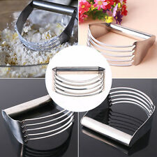 Stainless Steel Pastry Dough Cutter Blender Mixer Whisk Baking Kitchen Tool New