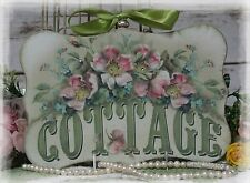 "~  ""Cottage..."" Vintage ~ Shabby Chic Country Cottage style ~ Wall Decor Sign ~"