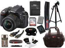 Nikon D3300 24.2MP Digital SLR Camera Black Kit AF-S DX VR 18-55mm Lens Bundle