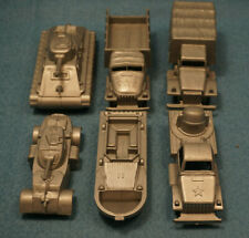 Made in Mexico Plastic Army Vehicle Lot (6) Gray