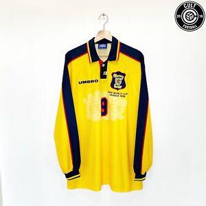 1998 World Cup DURIE #9 Scotland Player Issue Umbro Away Football Shirt (XL)