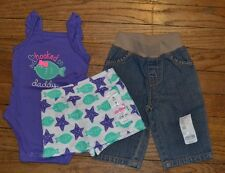 3 Piece Lot Jumping Beans 3 Month Clothes BRAND NEW Jeans, Body Suits, Skort