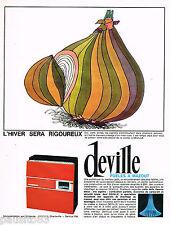 PUBLICITE ADVERTISING 065  1965  DEVILLE poeles à mazout chaudières