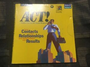 ACT! 4.0 SYMANTEC Vintage Software IBM WIN NT 95 ORIG SHRINKWRAP NEW COLLECTIBLE