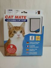 Cat Mate Lockable Cat Flap Door White 304W Weather & Draft Proof 2 Way Locking