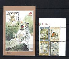 China Macau 2002 Filial Love stamp + S/S