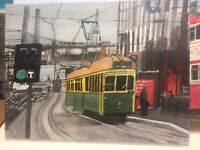 Melbourne W1 Class Tram 846 - Original Acrylic Painting On Canvas