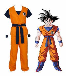 Dragon Ball Z Goku Turtle senRu Adult Costume Cosplay Optional Super Saiyan Wig