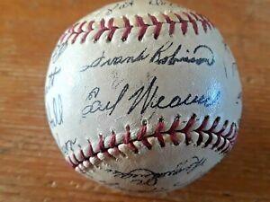 1971 BALTIMORE ORIOLES vintage team autographed baseball - facsimile signatures