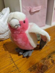 Plush Galah Toy Pink White Grey Australian Bird 19ish cm