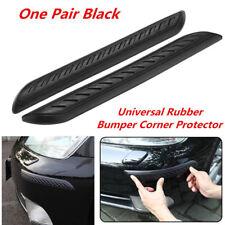 2x Car Rubber Body Corner Bumper Protector Guard Cover Lip Crash Bar Trim Black