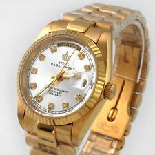 Steel Bagelsport Luxury Men's Gold Diamond Dial S/Steel Auto Mechanical Watch