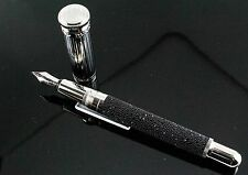 Dunhill Black Swarovski Diamond Sentryman Fountain Pen