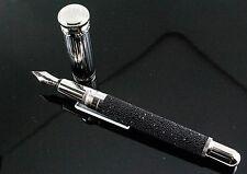 Dunhill Black Swarovski Diamond Sentryman Fountain Pen