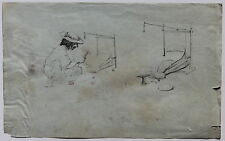 "THEODORE VALERIO DESSIN ""LE FORGERON HONGROIS"" circa 1850/1855."