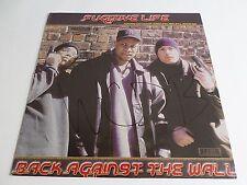 "Fugitive Life Back Against The Wall 12"" Safecracker SC 3337 Hip Hop Vinyl Record"