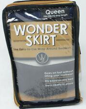 Wrap-Around Wonderskirt Queen Bed Skirt in Navy