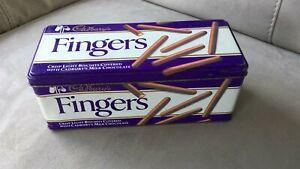 Vintage Retro Cadburys Chocolate Fingers Biscuit Tin 1990  Rare
