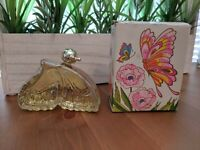 Vintage Avon Iridescent Butterfly Field Flowers Cologne Full 1.5 FL OZ Box