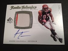 Andre Caldwell 2008 SP Authentic Rookie 2-CLR Patch Jersey Auto /999