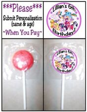 24 My Little Pony Birthday Party Baby Shower Lollipop Stickers Invitation Seals