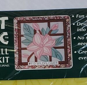 Quilt-Magic No Sew Wall Hanging Kit #113 Wildflower-  Sealed -New- Ships Free
