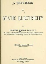 Text Book on Static Electricity * 1904 * CDROM * PDF