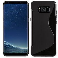 Pour Samsung Galaxy S8 Plus - Coque Gel Silicone Motif S-Line S-ligne Noir