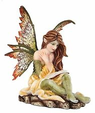 5.25 Inch Fairyland Yellow and Green Winged Fairy Statue Figurine