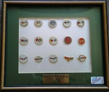 Chevrolet Corvette Lapel or Hat Pins - Picture frame holding 15 pins - NEW