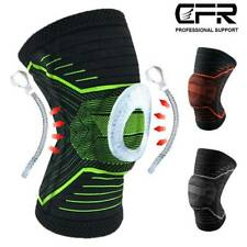 Knee Sleeve Compression Brace Spring Support Meniscus Sports Gym Joint Pad Pain